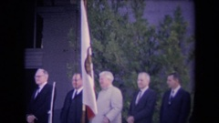 1967: ronald reagan inauguration men in suits during a work event SACRAMENTO Stock Footage