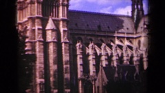 1939: notre dame cathedral facade PARIS FRANCE Stock Footage