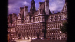 1939: view of a large building with many structural components PARIS FRANCE Stock Footage