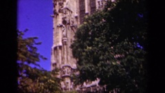 1939: a very tall historic religious church cathedral building PARIS FRANCE Stock Footage