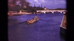 1939: overview of a body of water with objects floating in it PARIS FRANCE Stock Footage