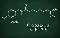 Structural model of Capsaicin Stock Photos