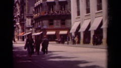 1939: day in the life of a city street PARIS FRANCE Stock Footage