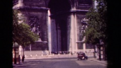 1939: the arc de triomphe in paris: l'etoile in early summer  Stock Footage