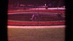 1939: short color shot of a plaza during the day. PARIS FRANCE Stock Footage