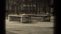 1947: old views of a city subway underground transport station PARIS FRANCE Stock Footage