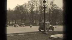 1947: antique cars driving around in the city PARIS FRANCE Stock Footage