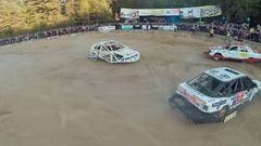 Auto Derby Battle Stock Footage