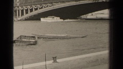 1947: chugging down the water way PARIS FRANCE Stock Footage