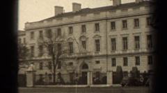 1947: a large building area with number of trees and no people around PARIS Stock Footage