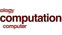 Computation animated word cloud. Stock Footage