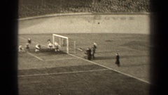 1947: ball entering the field playing american football sport PARIS FRANCE Stock Footage