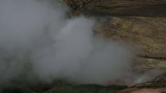 Eruption of the geyser Bolshoy in Valley of Geysers Stock Footage