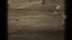 1947: counter attacking football in the early days of world soccer PARIS FRANCE Stock Footage