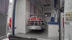 Inside of an ambulance Stock Footage
