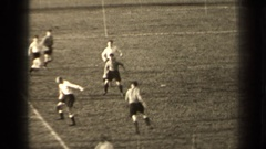 1947: kids playing soccer while moms watch PARIS FRANCE Stock Footage
