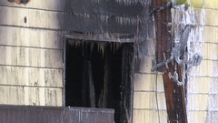 Tragic fatal house fire kills four people in family Stock Footage