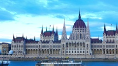 The hungarian parliament Stock Footage