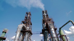 Modern Production. Industrial view Stock Footage