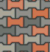Vector stones floor tile seamless pattern Stock Illustration