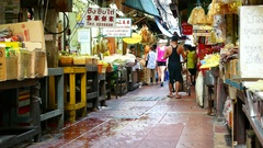 Timelapse view on a market in Bangkok Stock Footage