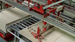 Automatic Machine Production of chipboard Stock Footage