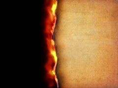 Burning paper camera transition, left to right, 4K, alpha mask Stock Footage