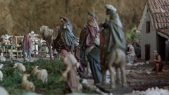 Traditional Bethlehem, Chrismas Representation Typical For Spain Stock Footage