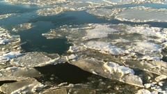 Broken Floating Ice Aerial Rise HD Stock Footage