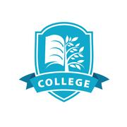Vector logo college Stock Illustration