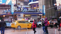New York, USA - OKT, 2016: well known New York Police Department buildings in Stock Footage