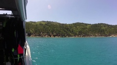 Whitsunday Island,View from Boat Stock Footage