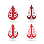 Colorful Water Drop and Earring Shape Stock Illustration