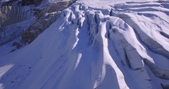Glacier fly - Aerial 4K Stock Footage