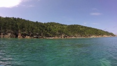 Whitsunday Island, View from Boat Stock Footage