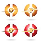 Thunder Sphere Abstract Icon Piirros