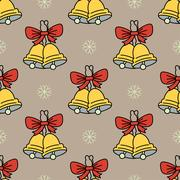 Vector seamless pattern with Christmas bells Piirros