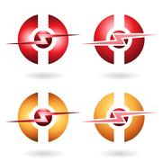 Thunder Sphere Abstract Icon Stock Illustration