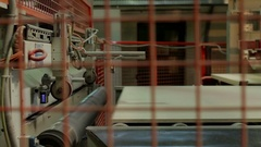 Automatic laminated chipboard production Stock Footage