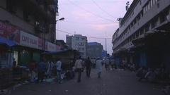 People on street, street Stock Footage