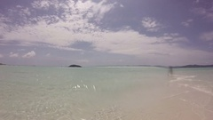 Whitsunday Island, Ocean and Beach Panoramic View Stock Footage