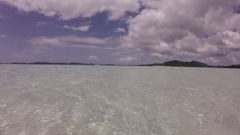 Whitsunday Island, View from Shore Stock Footage
