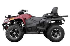 Modern black ATV Stock Photos