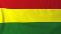 Flag of Bolivia waving in the wind, seemless loop animation Stock Footage