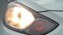 The machine blinking lights front Stock Footage