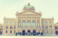 Federal Palace of Switzerland, Bern, capital city of Switzerland Stock Photos