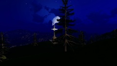 Heroes' Cross on Caraiman Peak,big Moon Stock Footage