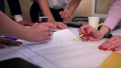 Group of business people planning a new project Stock Footage