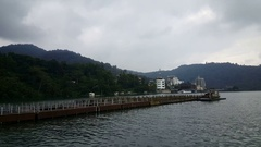 At the riverside of cable car station of Yuchi Stock Footage