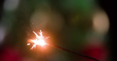 Set fire sparkler strike match HD close-up slow motion video. Christmas New year Stock Footage